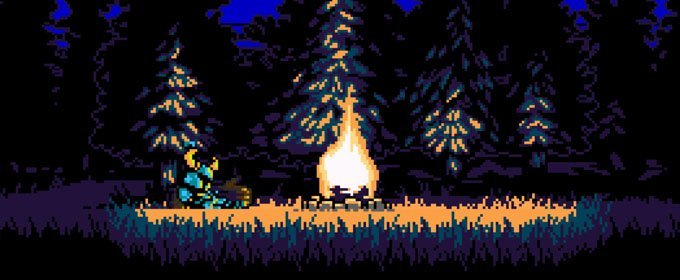 Shovel Knight, dándole palazos a Black Knight