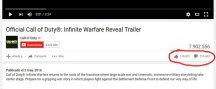 Call of Duty Infinite Warfare se llena de odio en YouTube