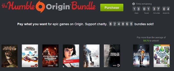 Electronic Arts se pone solidaria con el espectacular Humble Origin Bundle